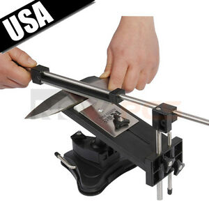 Image Is Loading Professional Kitchen Sharpening Knife Sharpener  System Fix Angle