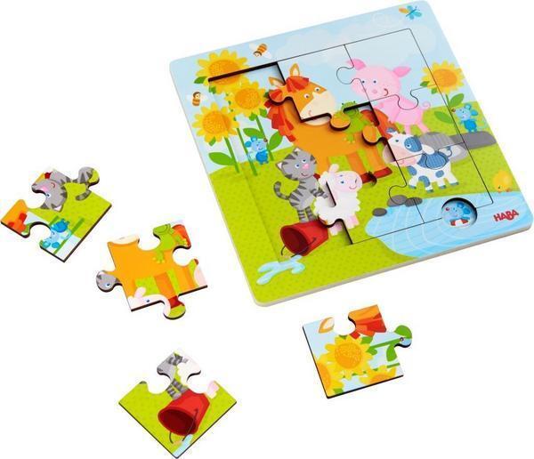 Holzrahmen-Puzzle Tierfreunde (Kinderpuzzle)