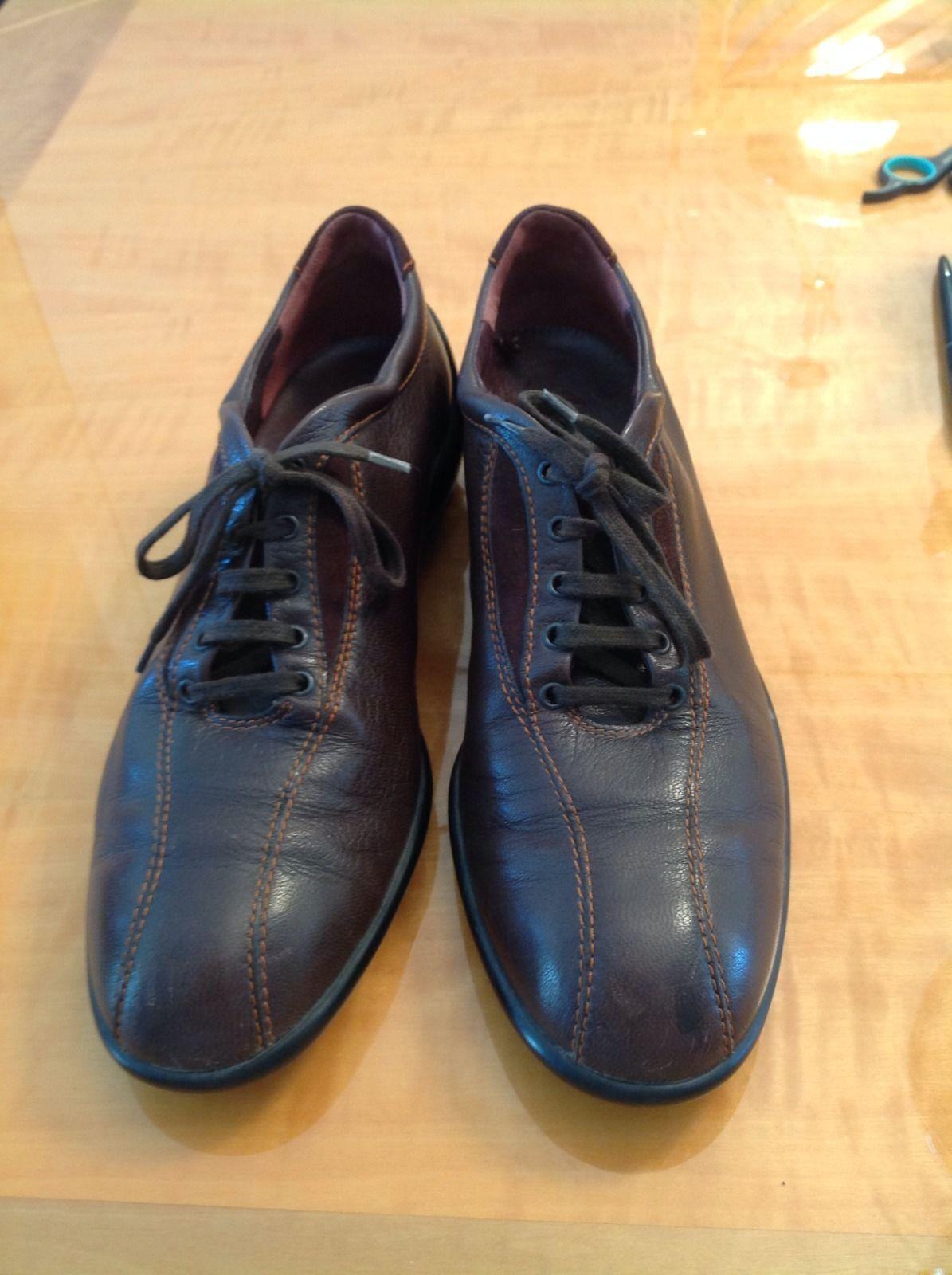 EUC HOGAN Braun Soles Leder Sneakers w/ Rubber Soles Braun SZ 38.5 d39ee2