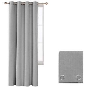Curtain Port Window Internal Fabric Light 140x290 CM Eyelets Steel Grey