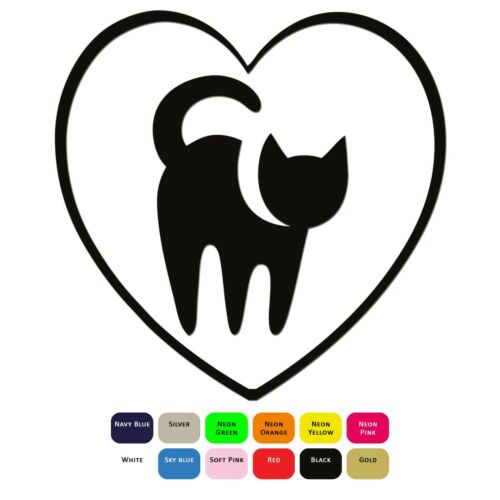 I Love My Cat Iron On T-Shirt Clothes Heat Transfer Vinyl Sticker HTV Decal