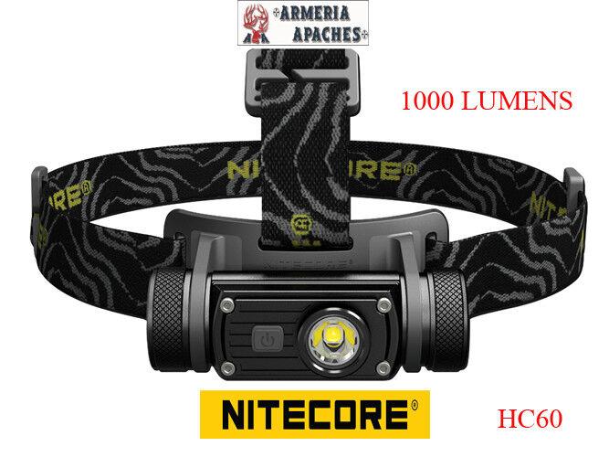 Nitecore HC60 Torcia davantiale riautoicabile 1000 luuomini 117 metri 3400 lux
