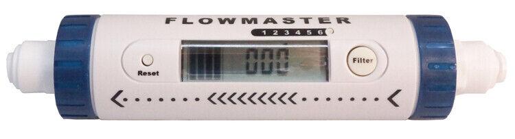 Hydro-Logic Flowmaster Ultra Baja Medidor de flujo 1 4 en monitor de capacidad de Filtro -