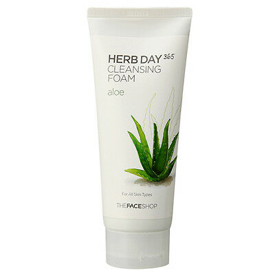 [THE FACE SHOP] Face Herb Day 365 Cleansing Foam 170ml - Aloe