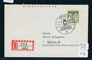 10411) Spécial R-ticket De Cologne Spoga, Lettre Sst 10.10.71-afficher Le Titre D'origine Forte RéSistance à La Chaleur Et à L'Usure