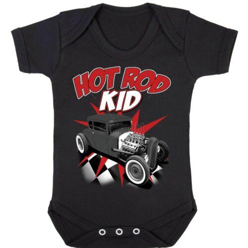 Hotrod 58 Hot rod Kid Babygrow Romper American Rockabilly Custom Classic Car