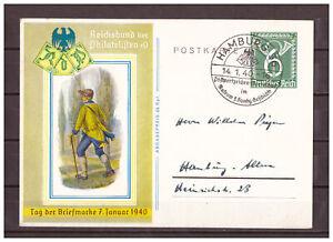 Empire-Allemand-Entier-Postal-P-289-Sst-Hamburg-Pwz-Werbeschau-14-01-1940