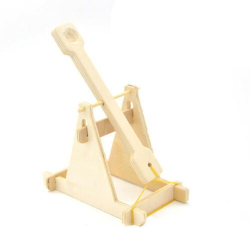 3D Puzzles DIY Trebuchet Model Toy Wooden Catapult Vehicle Kit Kid Physical Gift