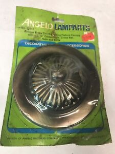 NOS-Angelo-Lamp-Parts-Decorative-Lighting-Ceiling-Canopy-Antique-Brass-Finish