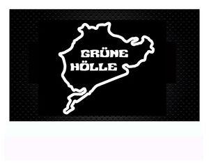 n rburgring nordschleife gr ne h lle autoaufkleber sticker aufkleber 11x11 5cm ebay. Black Bedroom Furniture Sets. Home Design Ideas