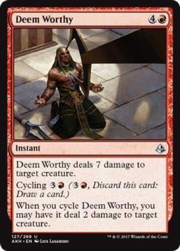 127//269 Uncommon 4 x Deem Worthy - Amonkhet