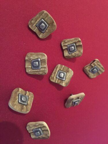 Vintageparts DIY oblongos perlas de coco en realidad aprox 15x3mm 20 stüc