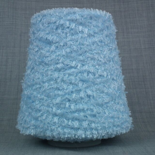 GORGEOUS 4 PLY GLITTER YARN - BABY BLUE - 500gram CONE 10 BALLS KNITTING SPARKLE