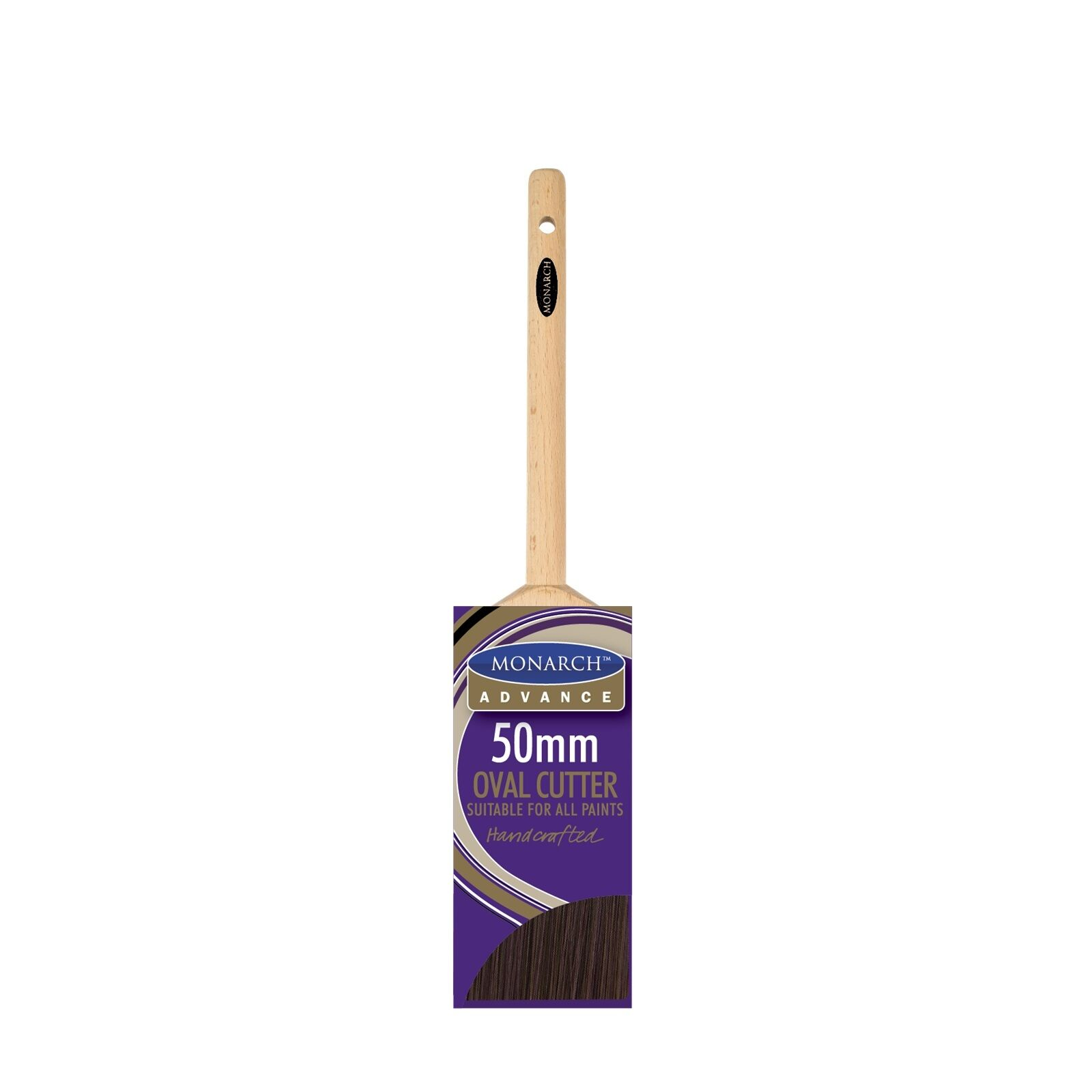 Monarch ADVANCE OVAL CUTTER SYNTHETIC PAINT BRUSH Aust Brand - 50, 63 Or 75mm