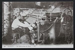 Tarjeta-Postal-Antigua-CPA-Animada-Postal-Elbeuf-La-Fabricacion-Del-Sabana