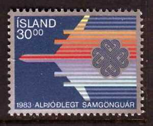 Iceland Sc#580 Mint NH VF World Communications Year