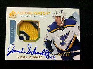 2017-18-SP-Authentic-Limited-Patch-Autographs-121-Jordan-Schmaltz-FW-100