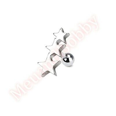 316L Surgical Steel Star Tragus Cartilage Piercing Stud Ear Ring Body Jewellery