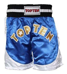 Top-Ten-Kickboxing-Shorts-034-Kick-Light-034-S-XXL-blau-rot-Polyester-Kickboxen