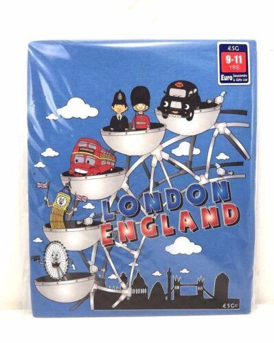 Kids Children/'s London England Scene 100/% COTONE T-SHIRT 6-14 Anni