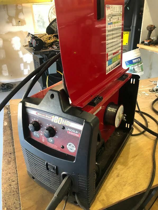 Used Lincoln Electric K2481-1 Pro Mig 180 Welder Mig/Flux-Cored Wire Feed 230 Volt.