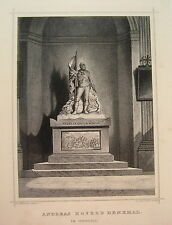 Andreas Hofer  Denkmal Innsbruck  Österreich  echter alter Stahlstich  1844 Rar