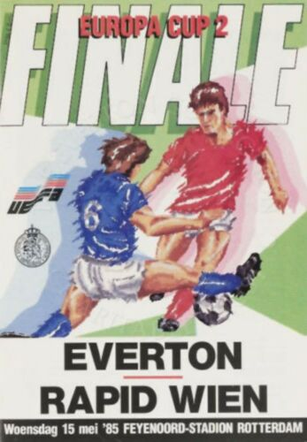 1985 CUP WINNERS CUP FINAL EVERTON v RAPID VIENNA