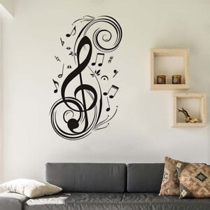 Image Is Loading Large Music Notes Wall Sticker Removable Vinyl Art