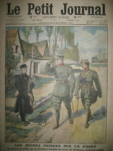 BELGIQUE-PRINCE-LEOPOLD-DUC-DE-BRABANT-SIMPLE-SOLDAT-LE-PETIT-JOURNAL-1915