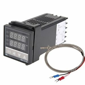 Dual-Digital-F-C-PID-Temperature-Controller-with-K-Thermocouple-M2D2