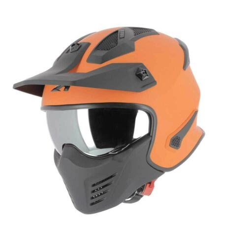 Casco Astone ELEKTRON monocolor orange Arancione L