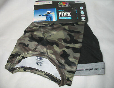 NEW Boys Fruit of the Loom Performance Flex Gray Base Layer Set XS and Med