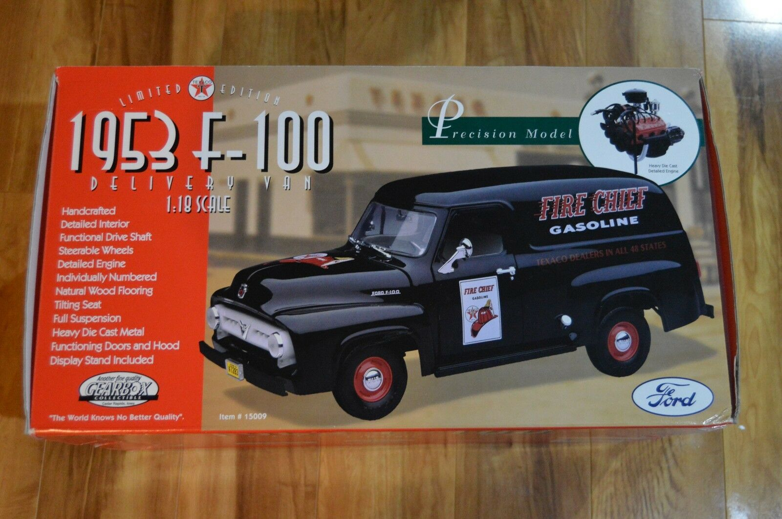 Gearbox Limited Edition 1953 Ford F-100 Delivery Van Texaco in 1 18 scale
