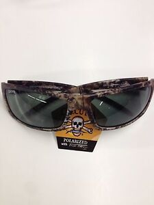 New Calcutta Prowler Polarized Sunglasses Gray Lens/True Timber Frame