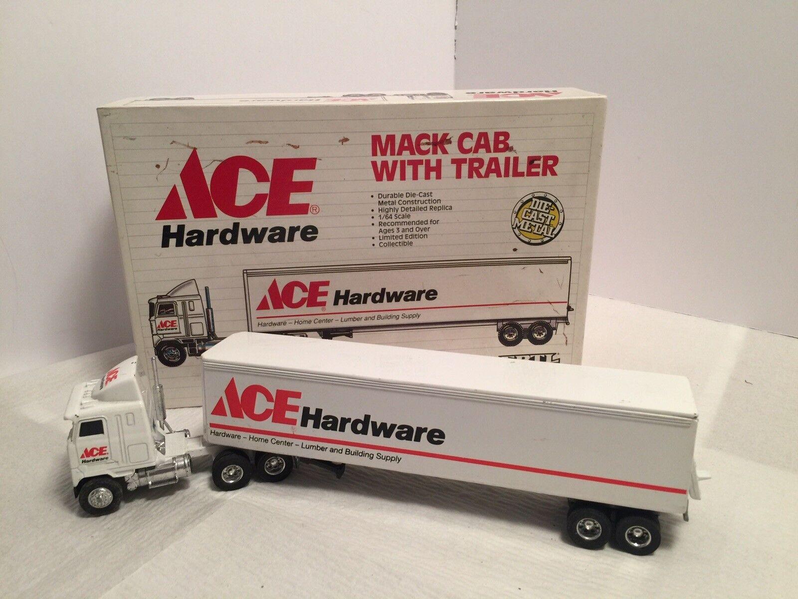 Ertl 1990 Ace hardware de metal camión remolque UO Edición Limitada 1 64 Diecast