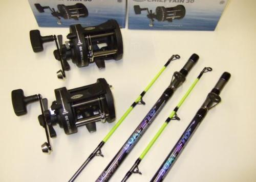 2 x RT Evo Concept 7ft Sea Boat Fishing Rods + Reels
