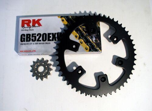 RK Gold Chain and JT Sprocket Kit Honda CRF 250R 2004-2009