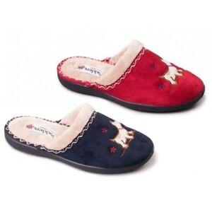 Padders SCOTTY Ladies Womens Microsuede Extra Wide Fit Mule Slip On Slippers