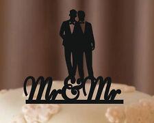 Wedding Silhouette Couple Cake Topper Gay Wedding Cake Topper wholesale
