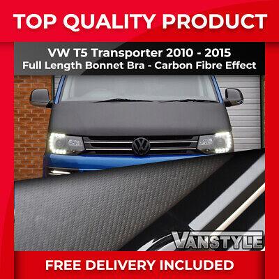 VW Transporter T5.1//T6 Bonnet Bra//Protector Stoneguard Full Cover Black