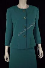 TAHARI Women Skirt Suit SIZE 10 EMERALD GREEN Two-Piece Dressy NEW$280 LBCUSA