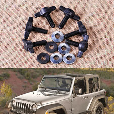 Fit Jeep Wrangler:6 Set Hard Top Removal Fastener Change Tee Knobs Screw  Nut Kit