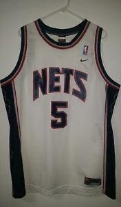 96ef2aeb Jason Kidd Men's XL Nike Swingman Throwback White New Jersey Nets ...