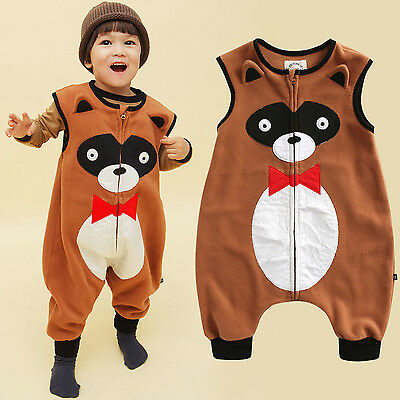 "Symbol Of The Brand Vaenait Baby Boy Micro Fleece Clothes Blanket Sleeping Bag ""p.tie Racoon"" 1t-7t"