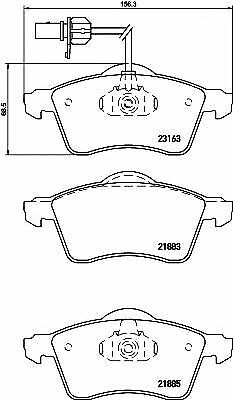 MINTEX CAR BRAKE PADS front MDB2104 Replaces 7D0698151D,7D0698151F,7D0698151D