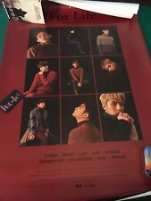 EXO 2016 Winter Special Album For Life Official Poster KPOP Red Ver.