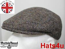 Genuine Harris Tweed Flat Cap Green Blue 58CM M NEW