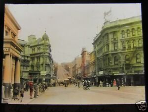 Glass-Magic-lantern-Slide-THE-EXCHANGE-DUNEDIN-C1920-NEW-ZEALAND