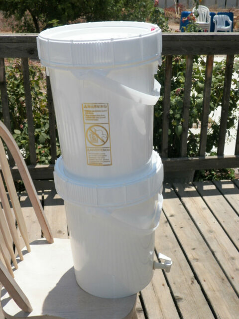 Emergency-H2O Gravity Feed Ceramic Water Filter System Complete with 2 - Buckets