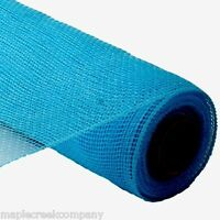 Turquoise 21in X 10yd Deco Poly Mesh Wreaths Or Wrapping (30 Feet Of Mesh)